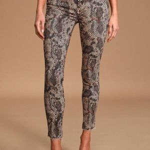 Free People NWT Two Faced Snakeskin Denim ~Sz 27